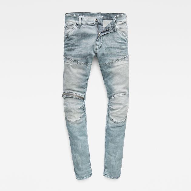 5620 G Star Elwood 3D Zip Knee Skinny Jeans