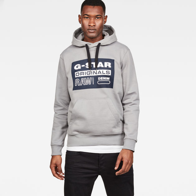 Loaq Hooded Sweater | Grey Heather | Heren | G Star RAW®