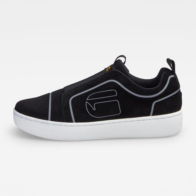 Kade Slip On Debossed Sneakers | Black