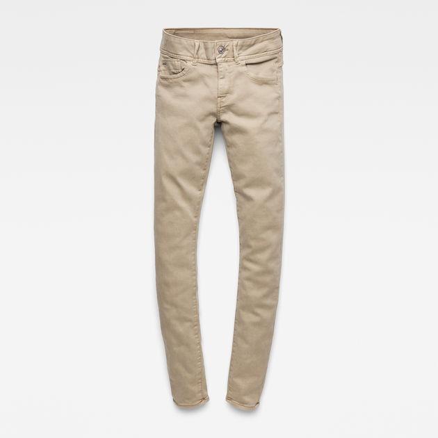Lynn Mid Waist Skinny Colored Jeans