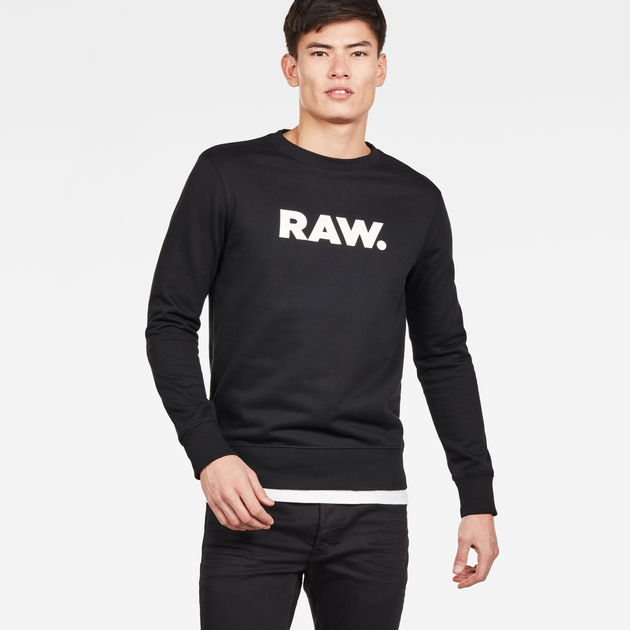 Ocelat Core Sweater | Grey Heather | Men | G Star RAW®