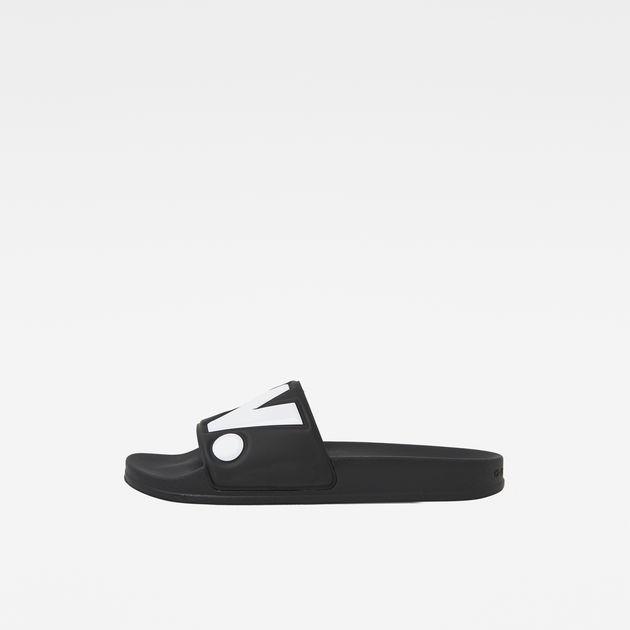 Cart slide II Slippers | Black/White