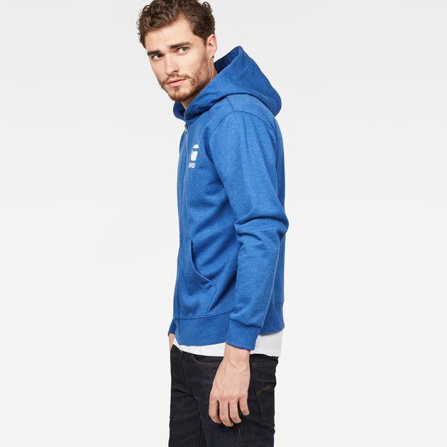 Blue G-Star Men/'s Doax Pullover Hoodie