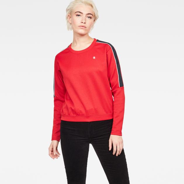 Nostelle Stripe Cropped Sweater | Dark Baron | G Star RAW®