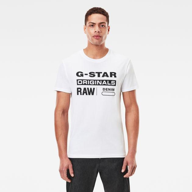 cacc58072fe2 Graphic Logo 8 T-Shirt | White | Men | G-Star RAW®