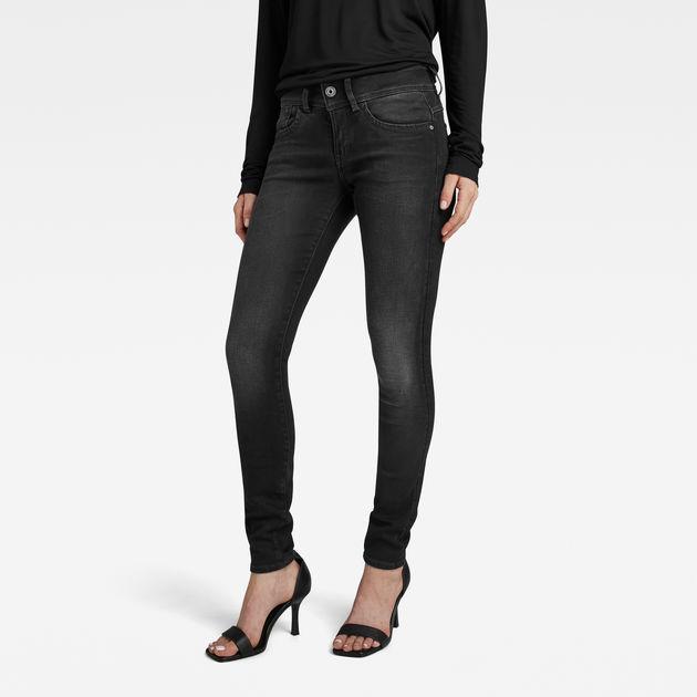 G Star Lynn Mid Waist Skinny Jeans (D06746 B472 A799) dusty