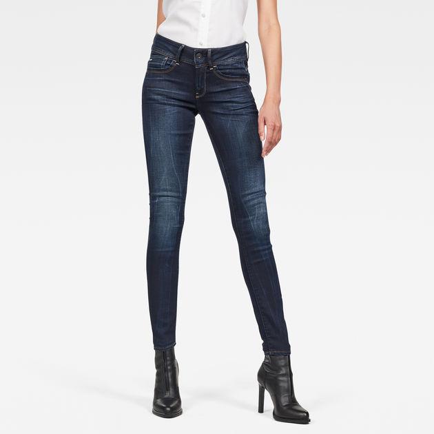 bdc602d02a7 Lynn Mid Waist Skinny Jeans | Faded Blue | Women | G-Star RAW®