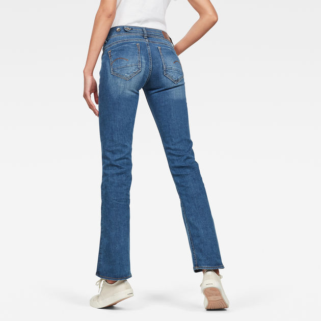 G-STAR RAW Damen Midge Saddle Mid Waist Bootcut Jeans