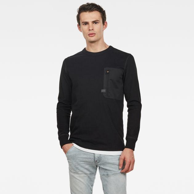 Black G-Star Men/'s Pocket T-Shirt