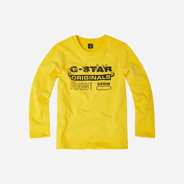 G Star RAW T shirt met logo zwart geel   wehkamp