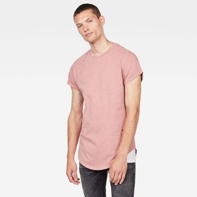swando relaxed t shirt dark tea rose men g star raw. Black Bedroom Furniture Sets. Home Design Ideas