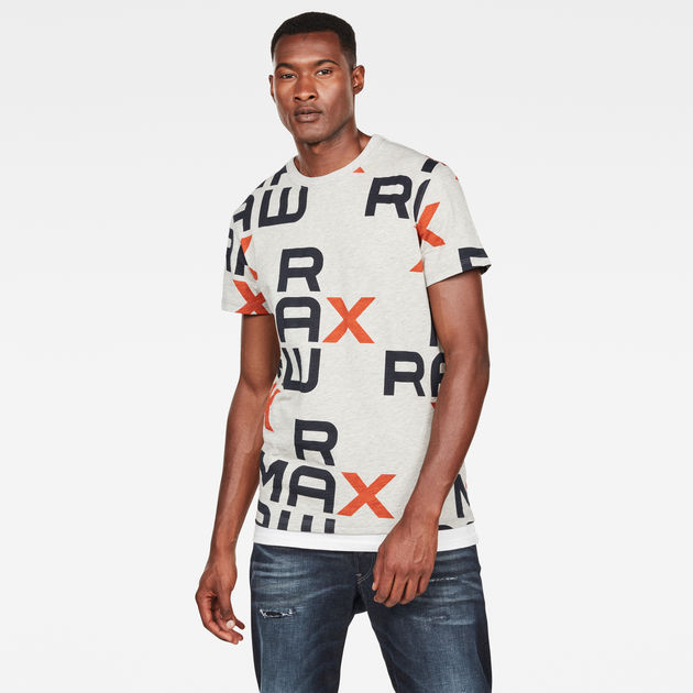 Max Graphic T Shirt | Royal Orange | Heren | G Star RAW®