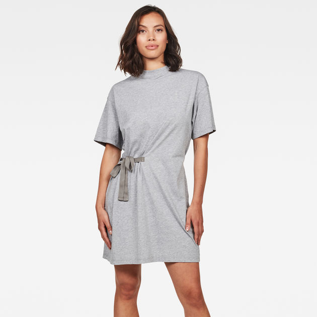 Disem Loose Dress Grey Heather G Star Raw