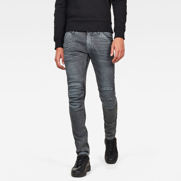 G STAR 3301 Slim Loomer Grey R Stretch Jean pour Homme Gris
