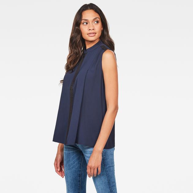 Road Zip Shirt | Sartho Blue | Women | G Star RAW®