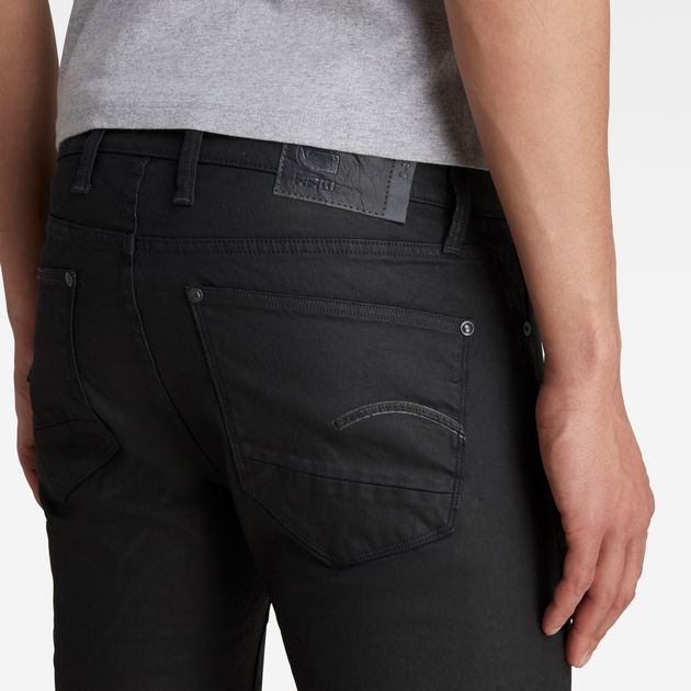G Star RAW Coated Skinny Jeans Pant Black