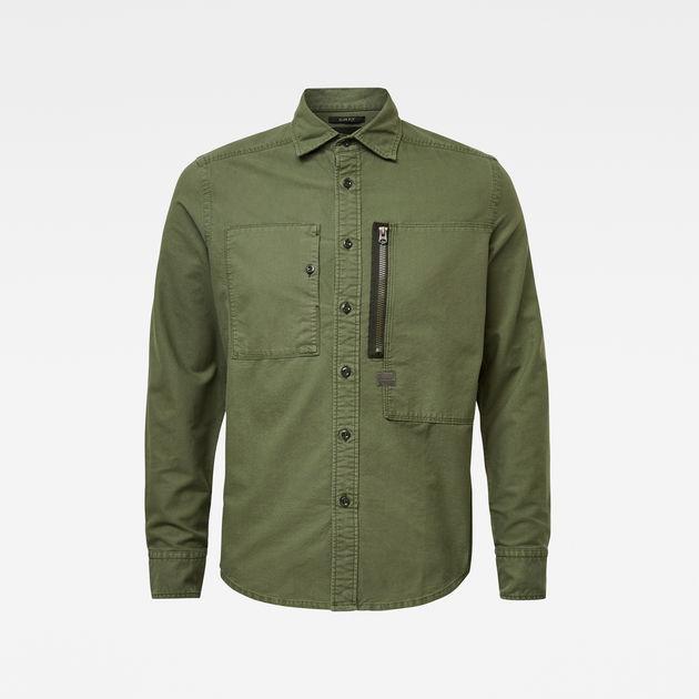 Green G-Star Men/'s Powel Slim Shirt