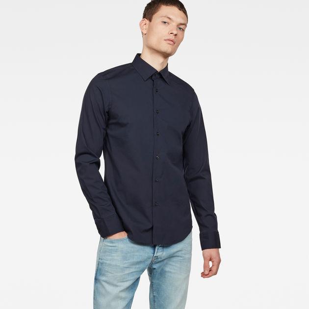 G-star Raw Men/'s Shirt Tacoma Mazarine Navy Blue Slim M