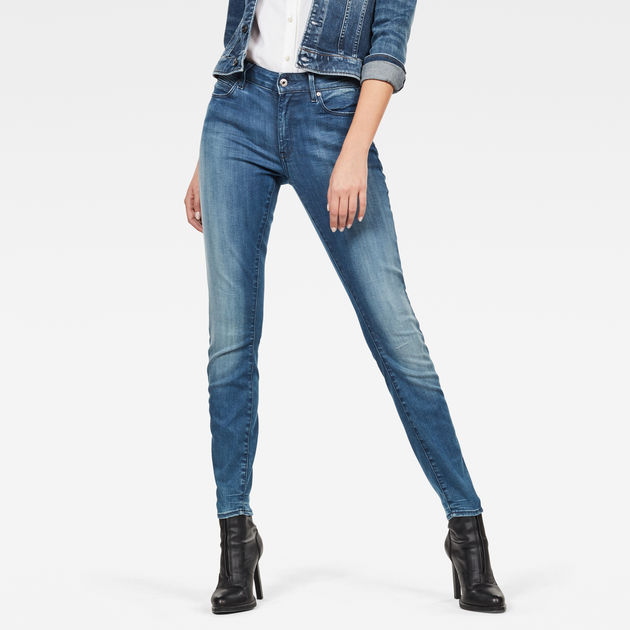 G-STAR RAW Women/'s Dark Aged Shape High Super Skinny Jeans D07113