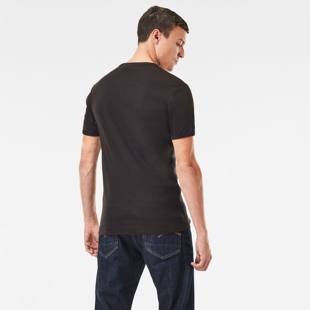 G-Star Raw round Neck Baseball Twin Pack Basic T-Shirt Black D07205 124 990