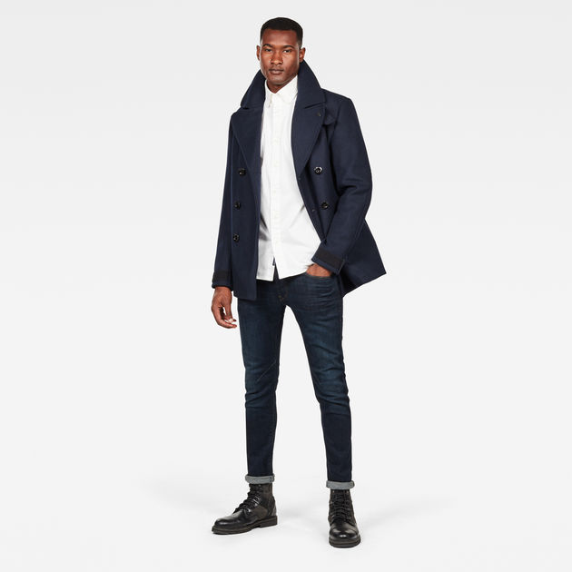 G-STAR RAW Traction Peacoat Manteau Homme