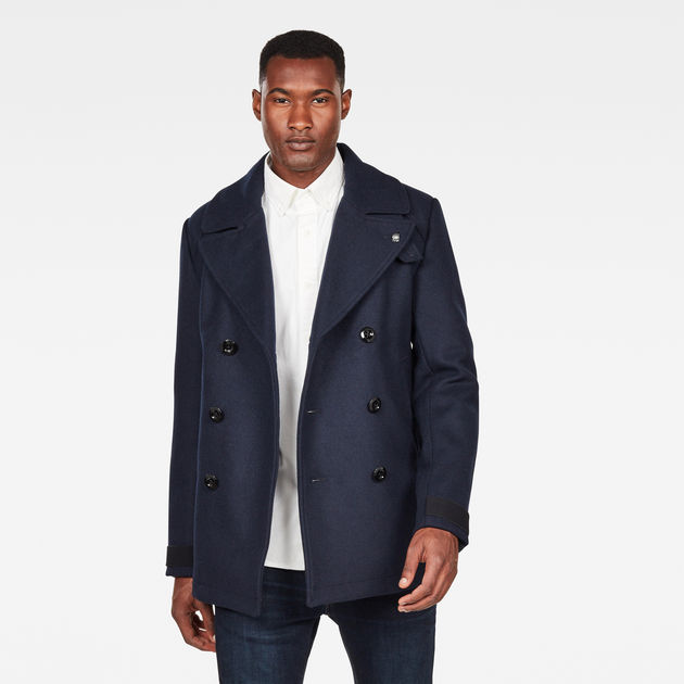 Manteau Traction Wool   Mazarine Blue   G-