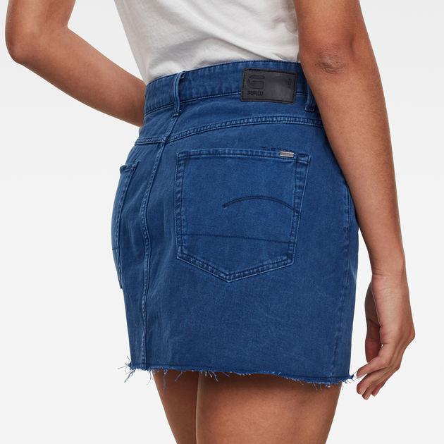4592 plus appétissante Jeans Femmes Rock Latzrock Jupe Minijupe porteur streetwear