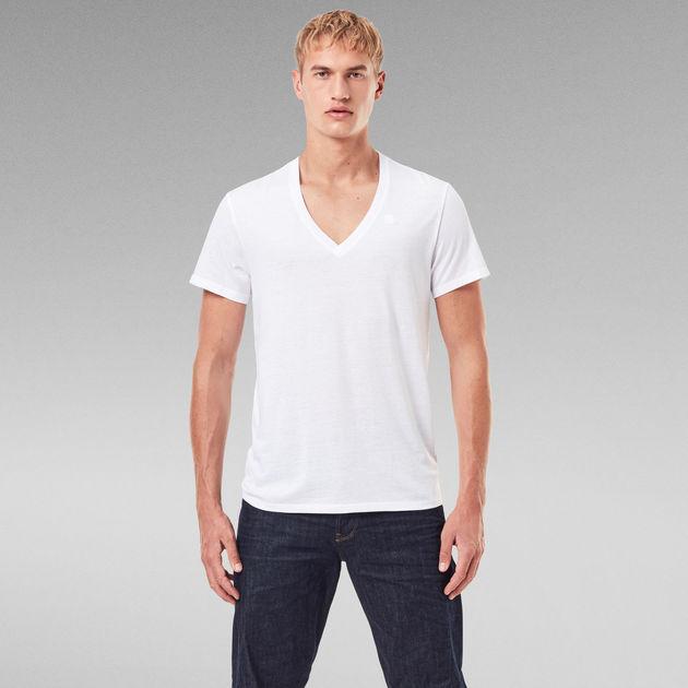 T-Shirt Deep V-Neck Poloshirt Buttons Clubwear Schwarz//Grau//Weiß//Rot NEU G.B.D
