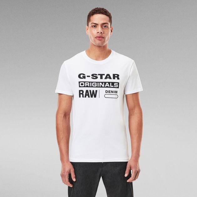 Raw. Graphic Slim T-Shirt   White   G-Star RAW®