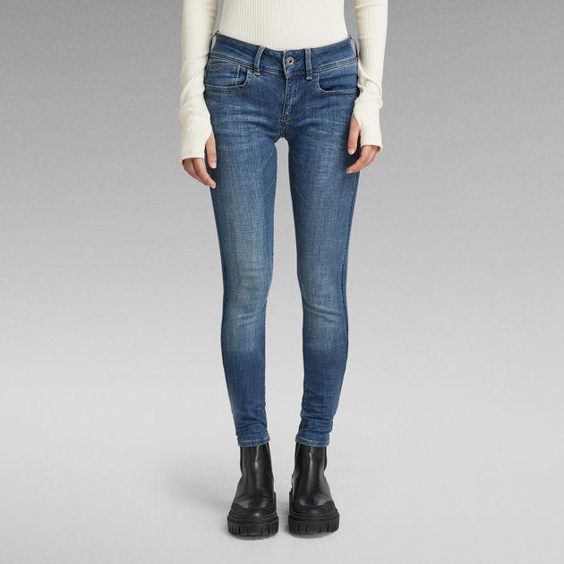 Lynn Mid Super Skinny Jeans Medium Blue G Star Raw
