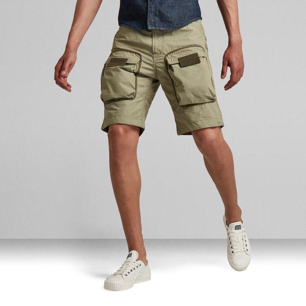Green Star print Tora Long Shorts
