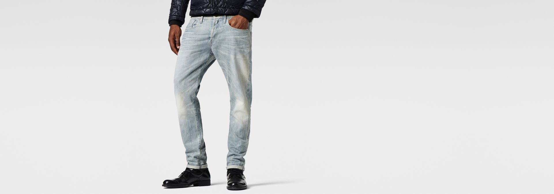 81a2bad23b4 3301 Tapered Red Listing Jeans | Light Aged | Men | G-Star RAW®