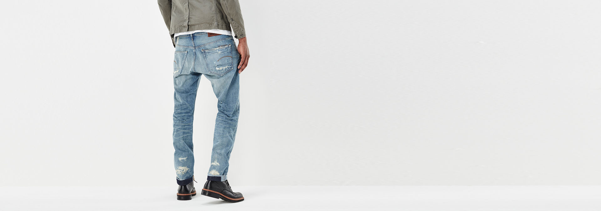 40dc798ebd7 ... G-Star RAW® 3301 Red Listing Tapered Jeans Light blue ...