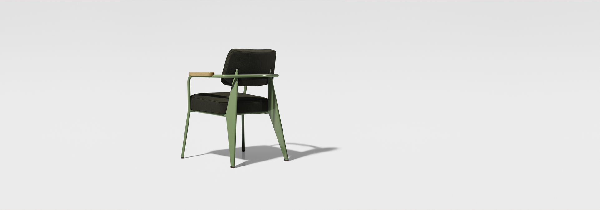 Prouve Raw Office Edition Fauteuil Direction Tissu 1951 Glides For Carpet G Star Raw