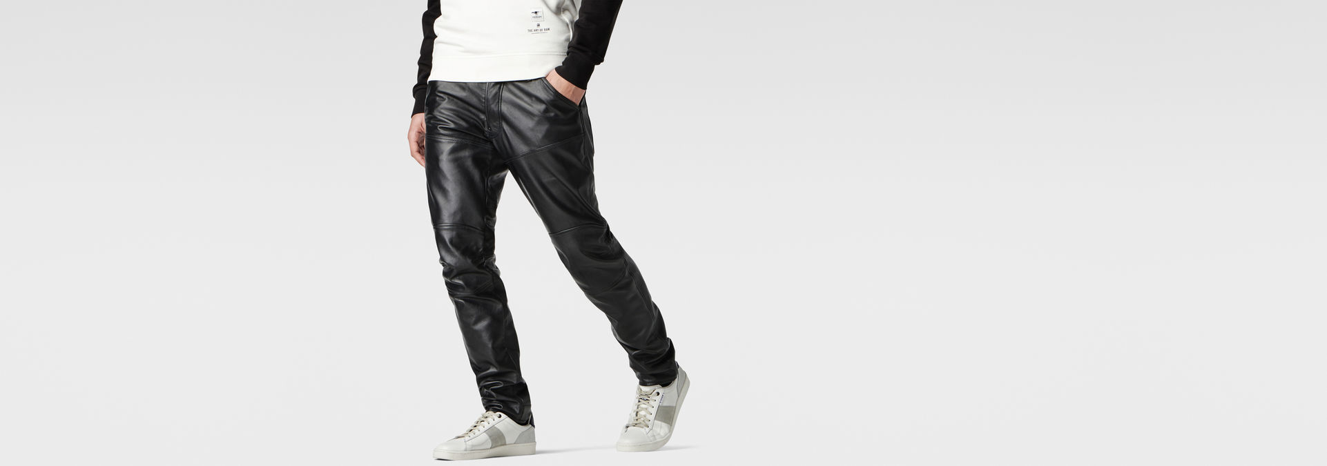 Leather 5620 3D Slim Pants | Black | Hommes | G Star RAW®