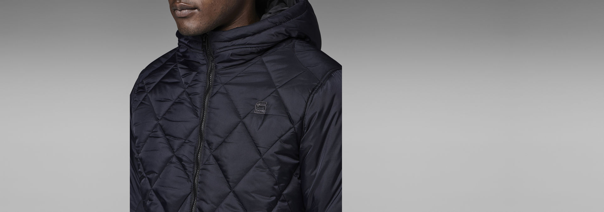 42bfccf3922 ... G-Star RAW® FIBRICK HOODED JACKET Dark blue flat front