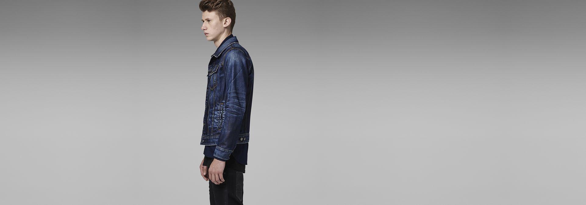 efe8cb73838 ... G-Star RAW® Slim Tailor 3D Jacket Medium blue model side ...