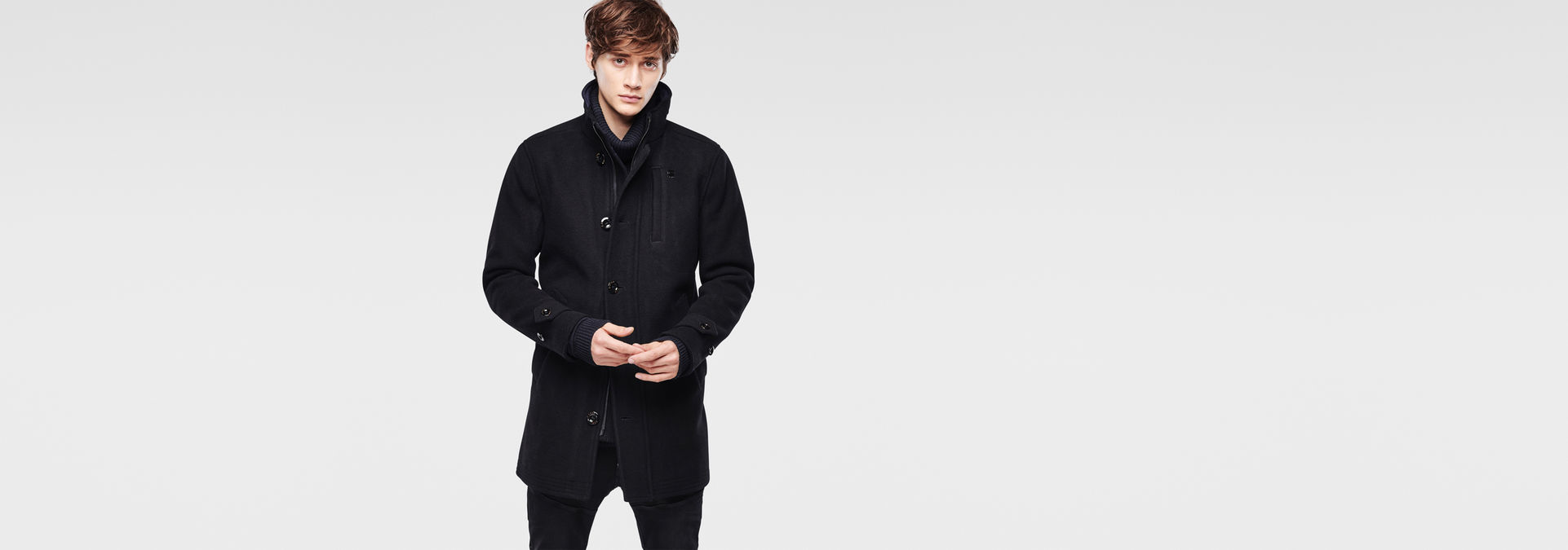 Wool Garber Trench | Black | Hommes | G Star RAW®