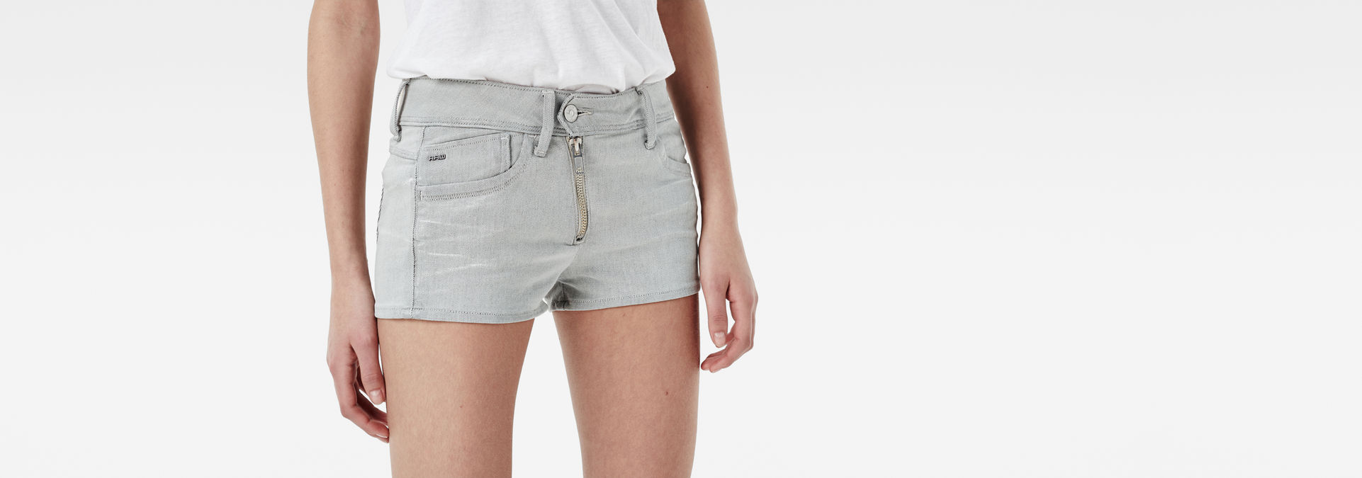 95e5f9ea2f Lynn Zip Shorts | White Painted | Women | G-Star RAW®