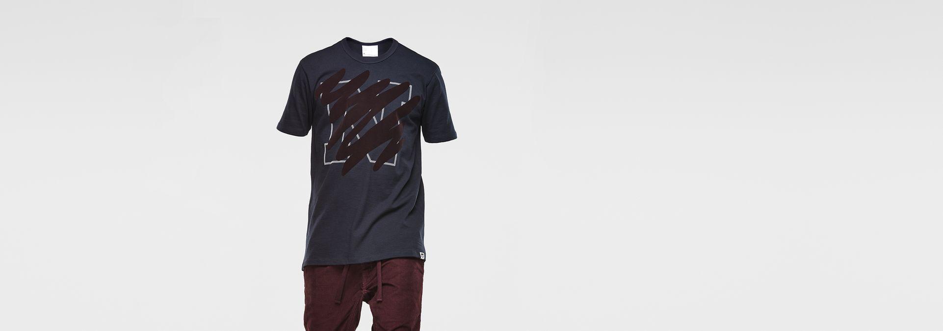 93206ac917 G-Star RAW® Marc Newson Scribble T-Shirt Dark blue ...