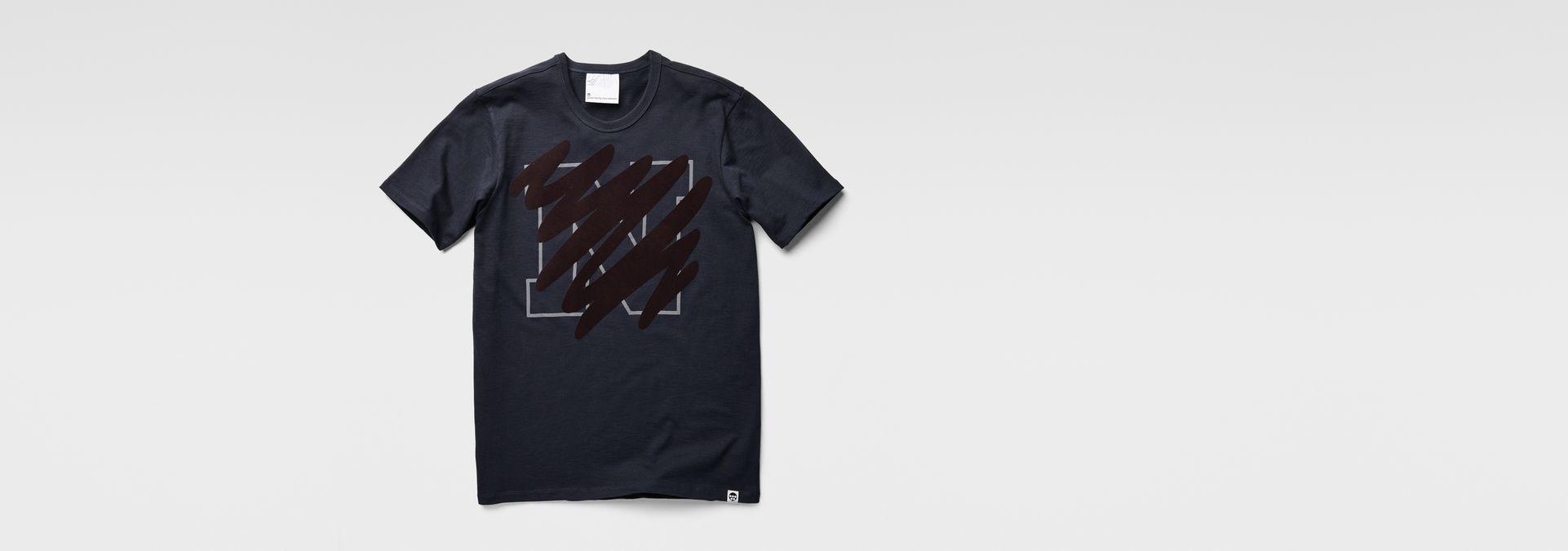 3a35c1bb58 ... G-Star RAW® Marc Newson Scribble T-Shirt Dark blue ...