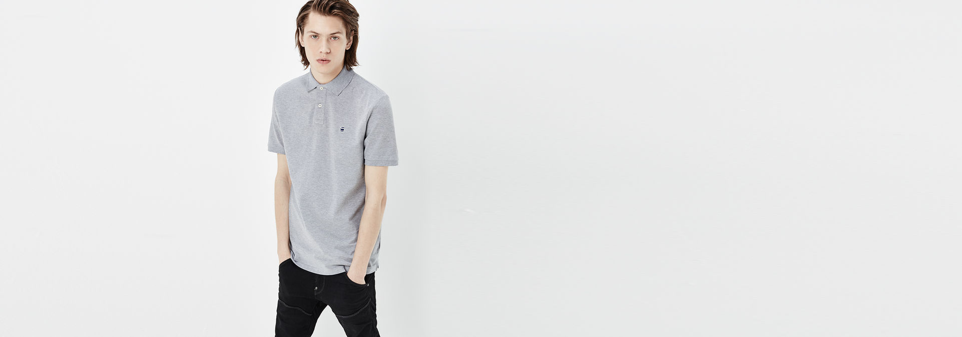 Dunda Polo T shirt | Grey Heather | Men | G Star RAW®