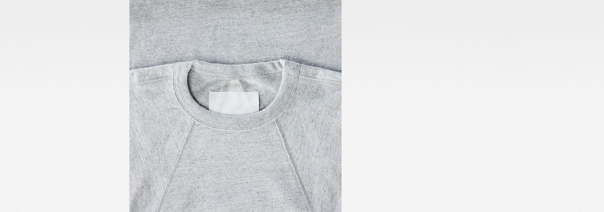 Marc Newson Leather Patch Sweater   Grey Heather   G Star RAW®