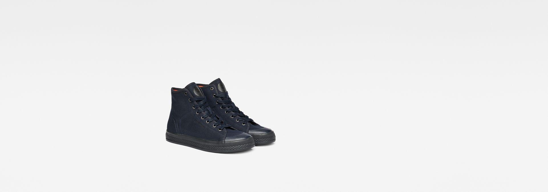 G-Star RAW® Bayton High-Top Denim Sneakers Dark blue model front ... e8dca05e78f