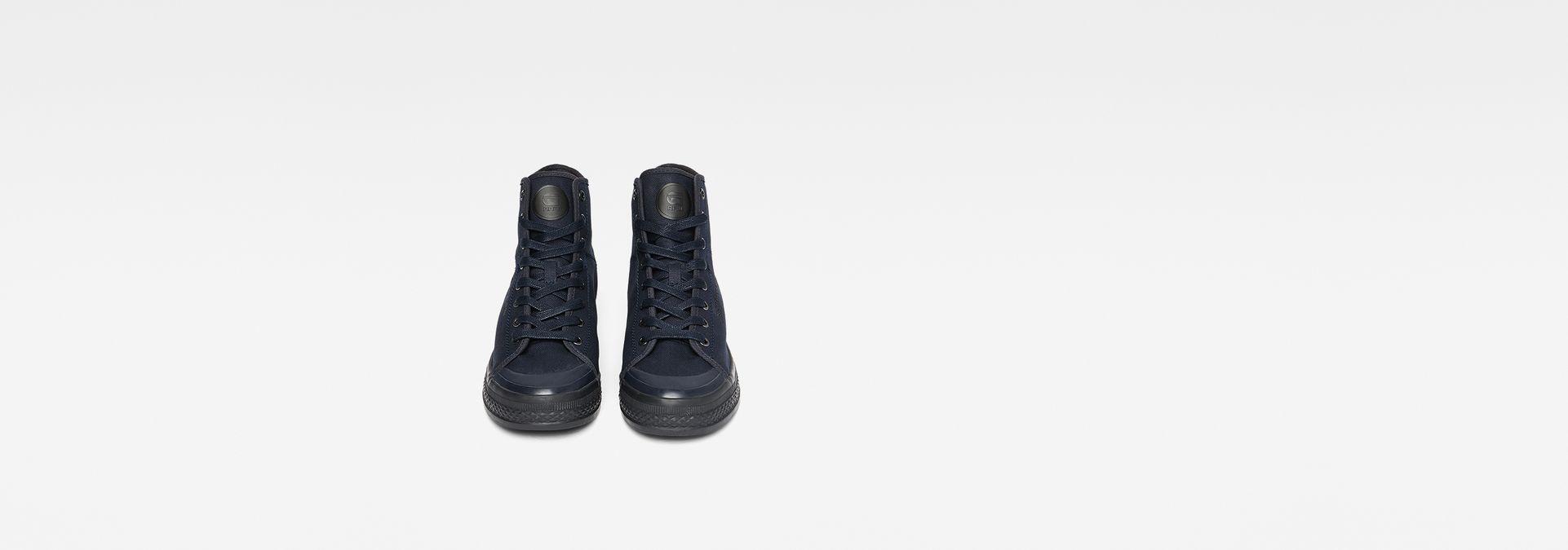 ... G-Star RAW® Bayton High-Top Denim Sneakers Dark blue model side ... bfcf5b6a459