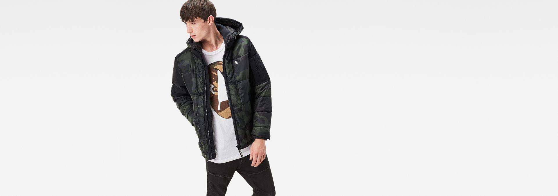 6407249fbd504 Whistler Hooded Camo Jacket | Asfalt/Carbon | Men | G-Star RAW®