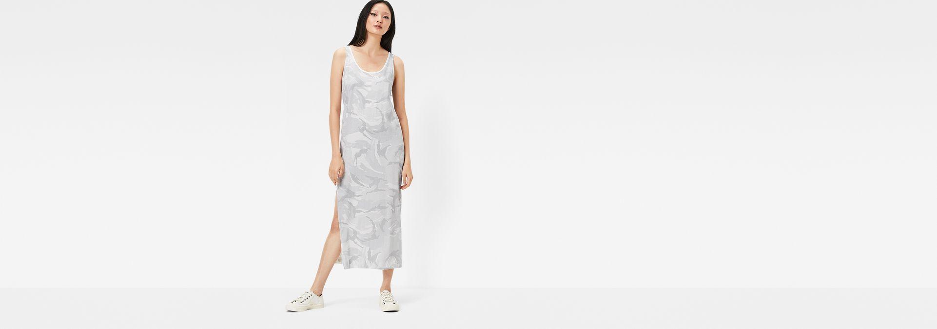 Lyker Tank Top Dress Milk Industrial Grey G Star Raw