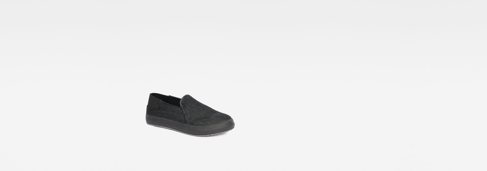 82c0ddcc323 ... G-Star RAW® Kendo Mono Slip-On Sneakers Black sole view ...