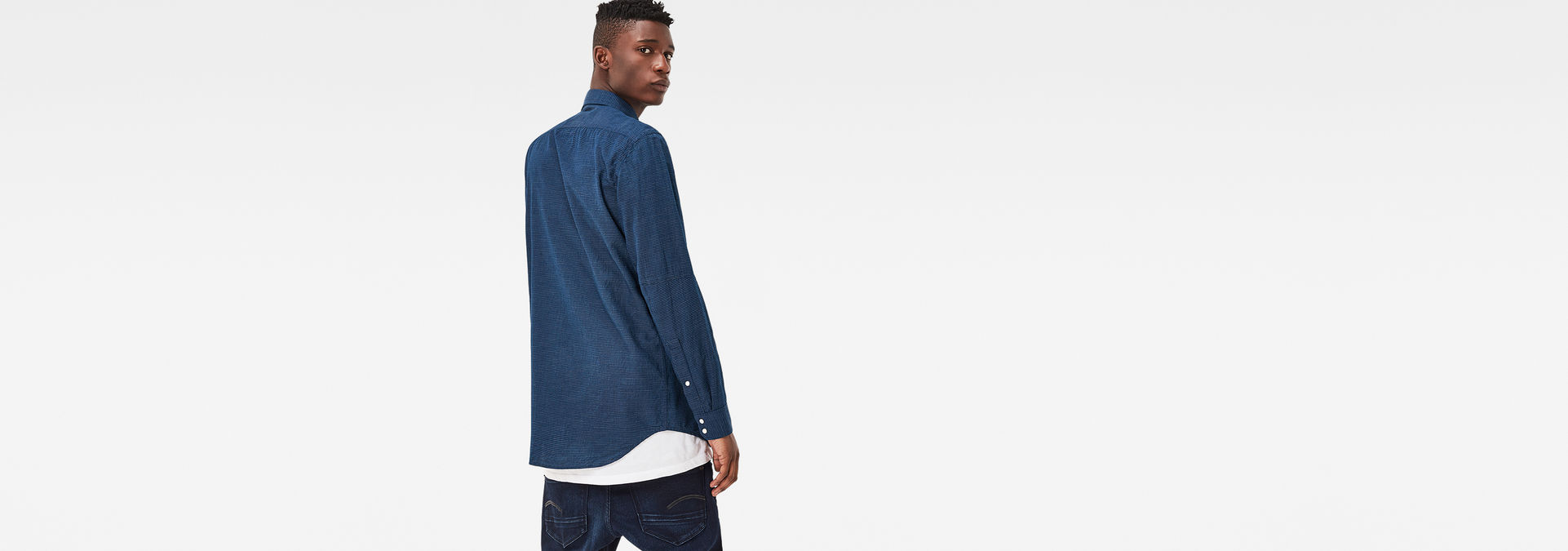 6f47070f5 ... G-Star RAW® Stalt Clean Denim Shirt Dark blue ...
