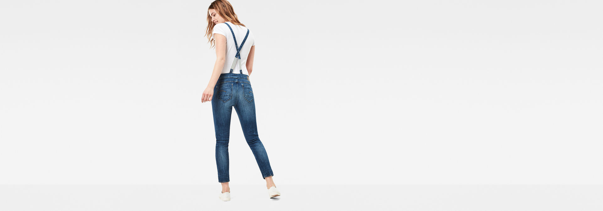 cedda700dbd ... G-Star RAW® Midge Slim Overalls Medium blue model back zoom ...